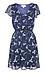 Short Sleeve V-Neck Smocked Waist Mini Dress Thumb 1