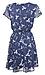 Short Sleeve V-Neck Smocked Waist Mini Dress Thumb 2