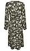 Printed Long Sleeve Midi Dress Thumb 2