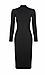 Long Sleeve Turtleneck Midi Dress Thumb 1