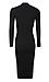 Long Sleeve Turtleneck Midi Dress Thumb 2
