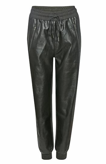 Faux Leather Jogger Pant Slide 1