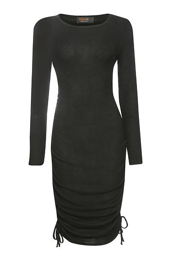 Renee C Long Sleeve Fitted Dress Slide 1
